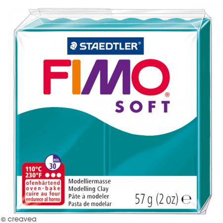 Fimo soft Bleu pétrole 36 - 57 gr - Photo n°1