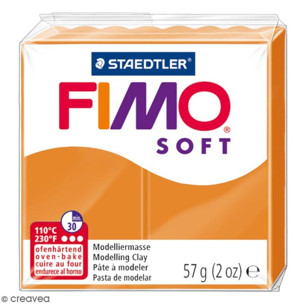 Pâte Fimo soft Orange clair 41 - 57 gr - Photo n°1