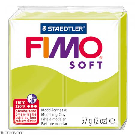 Fimo soft Citron vert 52 - 57 gr - Photo n°1
