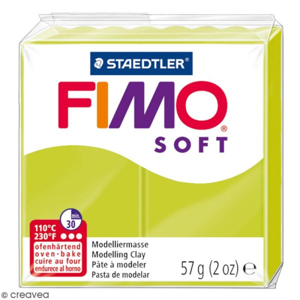 Pâte Fimo soft Citron vert 52 - 57 gr - Photo n°1