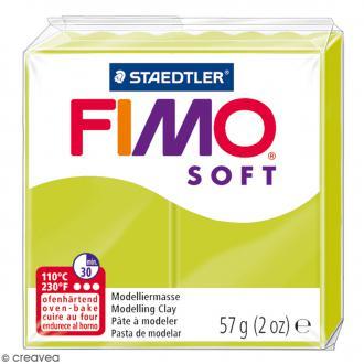 Pâte Fimo soft Citron vert 52 - 57 gr