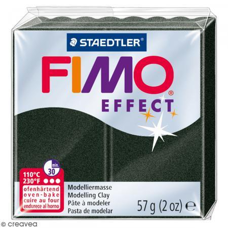 Fimo effect Noir perle 907 - 57 gr - Photo n°1