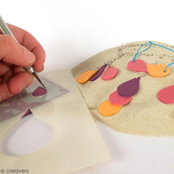 Gabarits pour pâte polymère - Goutte d'eau - 8 formes - Photo n°2