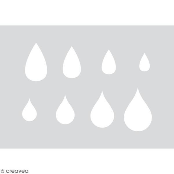 Gabarits pour pâte polymère - Goutte d'eau - 8 formes - Photo n°3