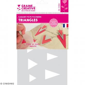 Gabarits pour pâte polymère - Triangles - 8 formes