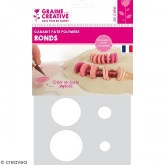 Gabarits pour pâte polymère - Ronds - 8 formes