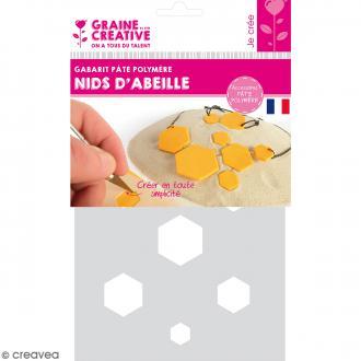 Gabarits pour pâte polymère - Nid d'abeille - 7 formes