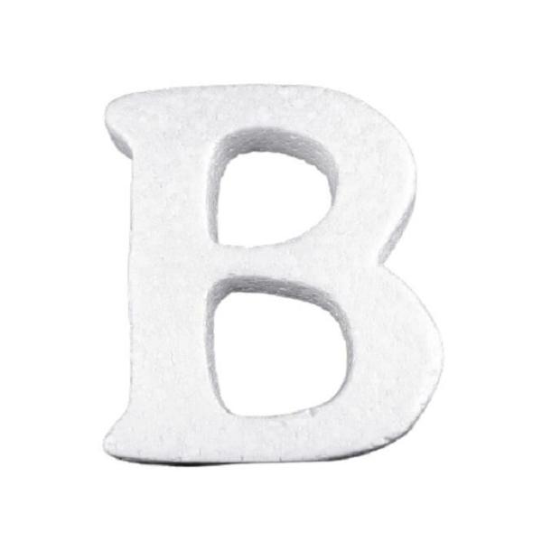 """1pc """"b"""" en Polystyrène Blanc 3d Lettres De l'Alphabet, / Polyester Formes Et des Accessoir - Photo n°1"""