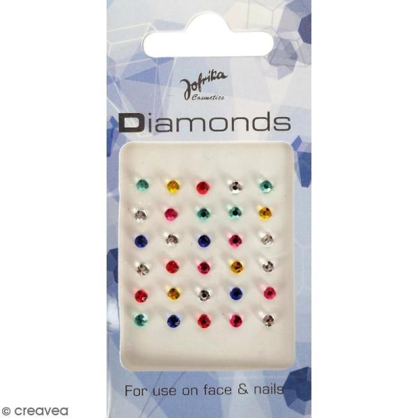 Bijoux de peau Diamants multicolores - 30 pcs - Photo n°1