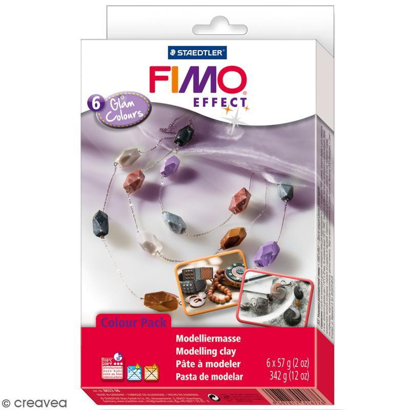 Coffret Fimo Effect - Couleurs glam - 6 pains de 57 g - Photo n°1