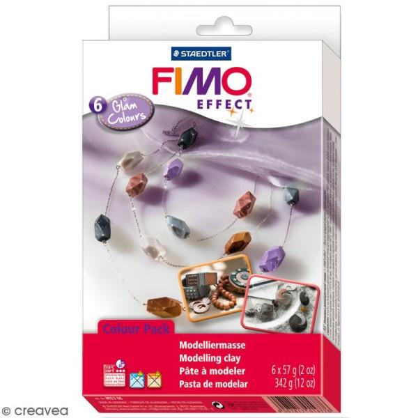 Coffret pâte Fimo Effect - Couleurs glam - 6 pains de 57 g - Photo n°1