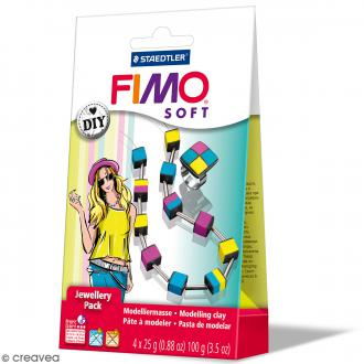 Kit Fimo Soft - Bijoux Cubes
