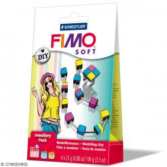Kit pâte Fimo Soft - Bijoux Cubes