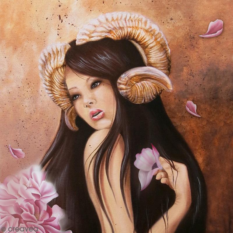 Image 3D - Femme Bélier - 30 x 30 cm - Photo n°1