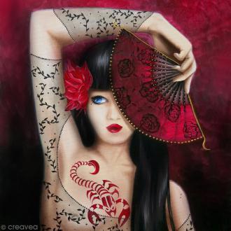 Image 3D - Femme Scorpion - 30 x 30 cm
