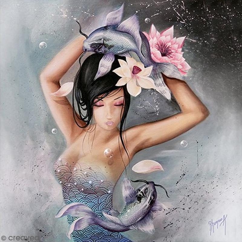 Image 3D - Femme Poisson - 30 x 30 cm - Photo n°1