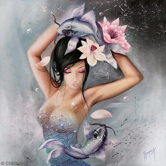 Image 3D - Femme Poisson - 30 x 30 cm