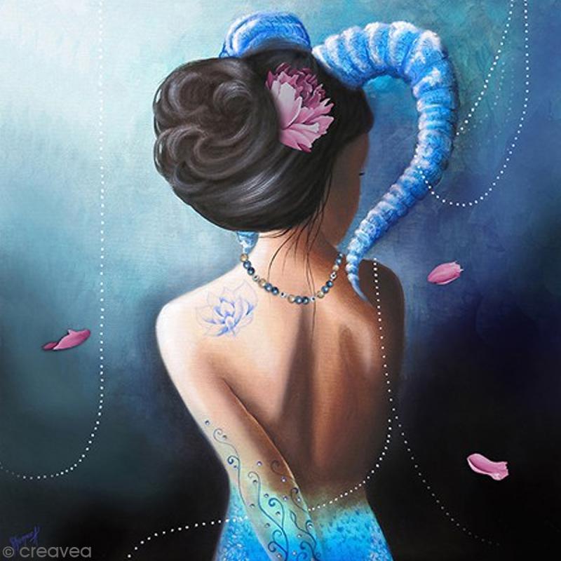 Image 3D - Femme Capricorne - 30 x 30 cm - Photo n°1