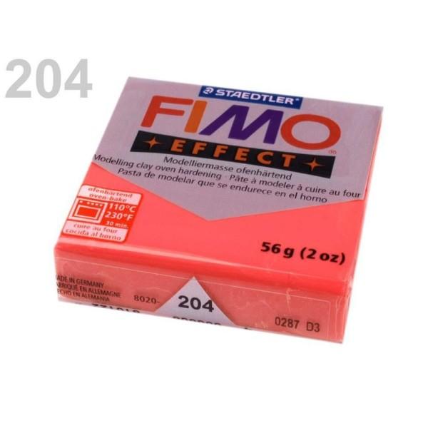1pc Corail Rouge Translucide FIMO Polymère pâte à modeler 56-57 octies Effet, d'Artisanat et de Lois - Photo n°1