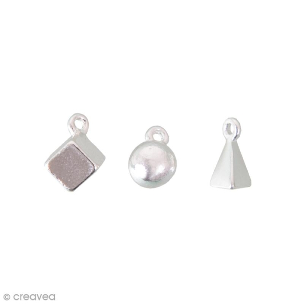 Assortiment de breloques pendentifs - Mix 3 - Argent - 3 pcs - Photo n°1