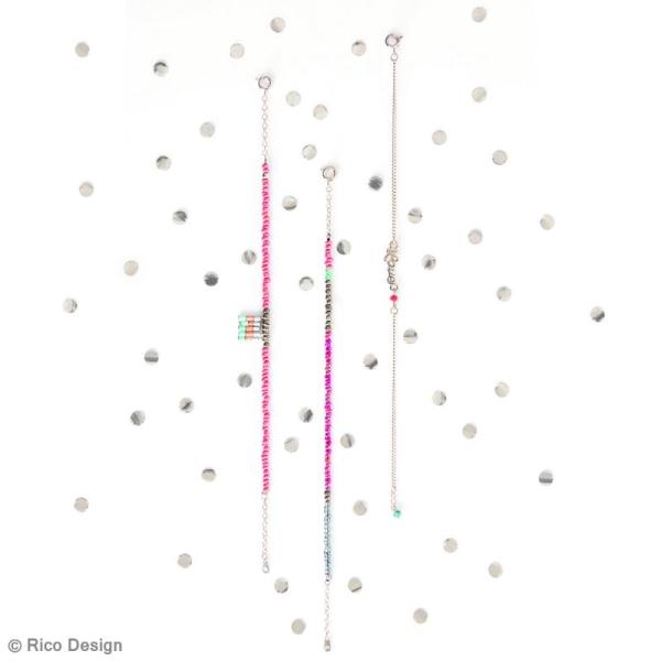 Breloque intercalaire - Happy - 20 x 5 mm - Photo n°2