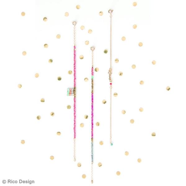 Perles de rocaille - Mix Neon - 2 mm - 17 g - Photo n°5