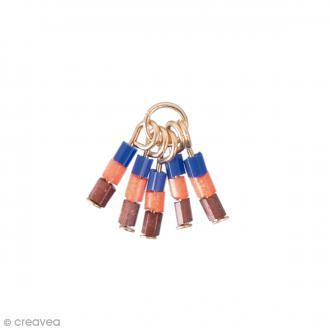 Breloque pampilles perles de rocailles - Artisan