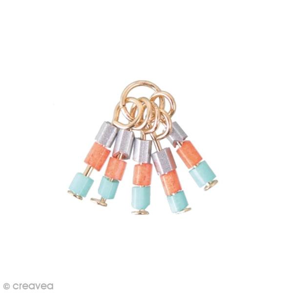 Breloque pampilles perles de rocailles - Koralle - Photo n°1
