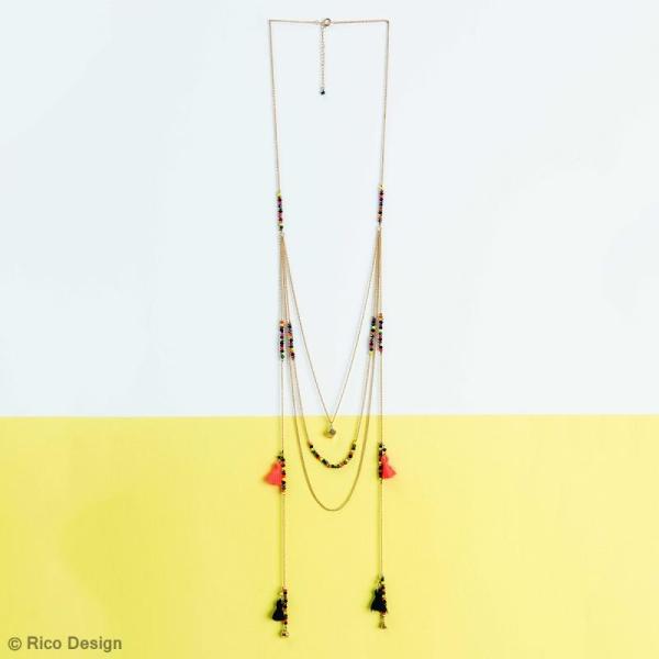 Perles à facettes - Neon - 3 mm - 60 pcs - Photo n°2