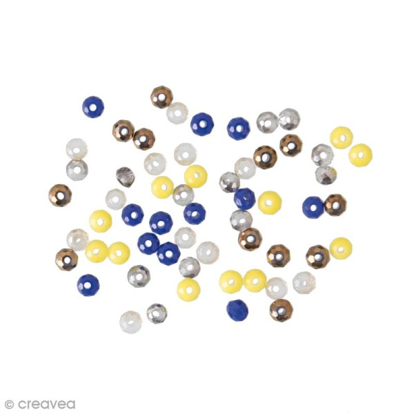 Perles à facettes - Artisan - 3 mm - 60 pcs - Photo n°1