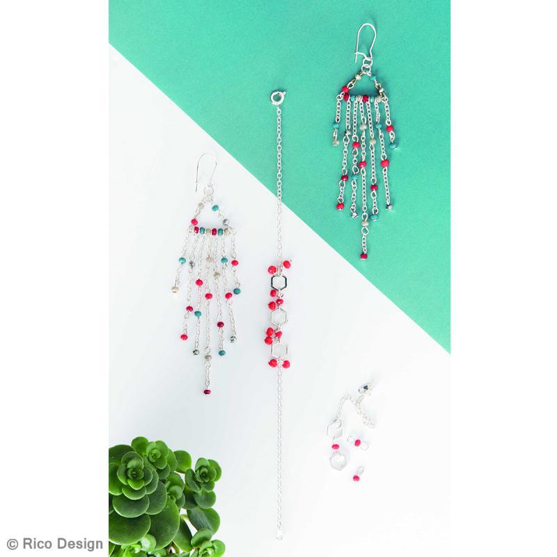 Kit accessoires pour bijoux - Argent - 27 pcs - Photo n°2