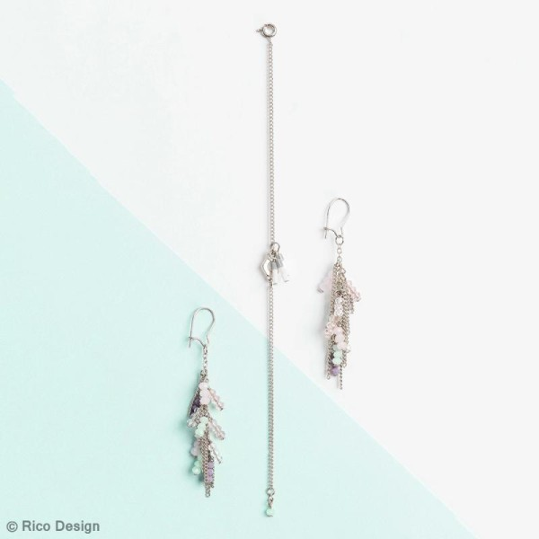 Kit accessoires pour bijoux - Argent - 27 pcs - Photo n°3