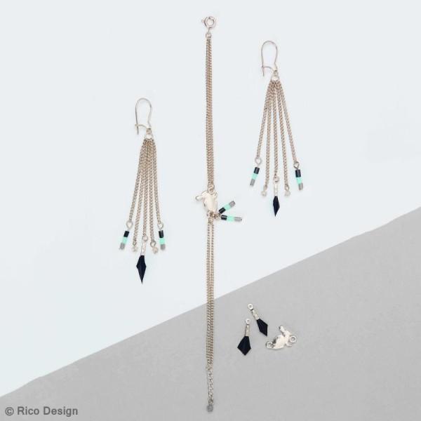 Kit accessoires pour bijoux - Argent - 27 pcs - Photo n°4