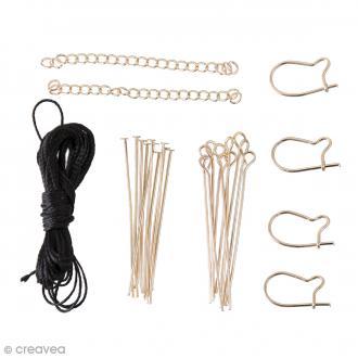 Kit accessoires pour bijoux - Doré - 27 pcs