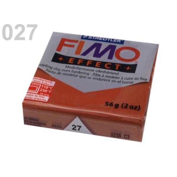 1pc brun-Rouge Métallique FIMO Polymère pâte à modeler 56-57 octies Effet, d'Artisanat et de Loisirs - Photo n°1