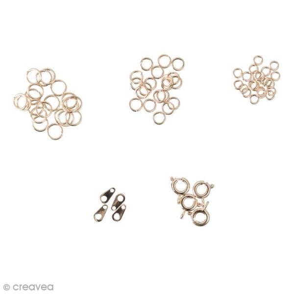 Assortiment de fermoirs pour bijoux - Doré - 58 pcs - Photo n°1