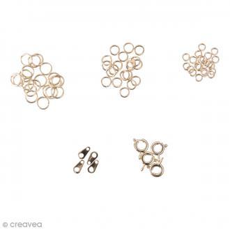 Assortiment de fermoirs pour bijoux - Doré - 58 pcs