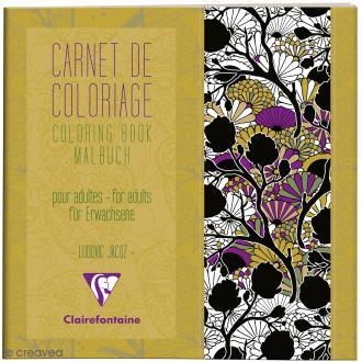 Carnet de coloriage Art Nouveau pour adultes - 20 x 20 cm - 36 pages