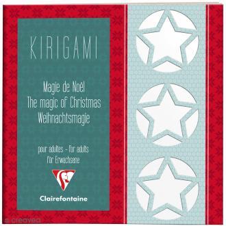 Carnet de motifs Kirigami - Magie de Noël - 20 x 20 cm - 52 pages