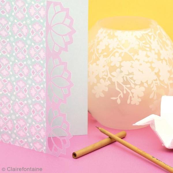 Carnet de motifs Kirigami - Parfum d'Asie - 20 x 20 cm - 52 pages - Photo n°4