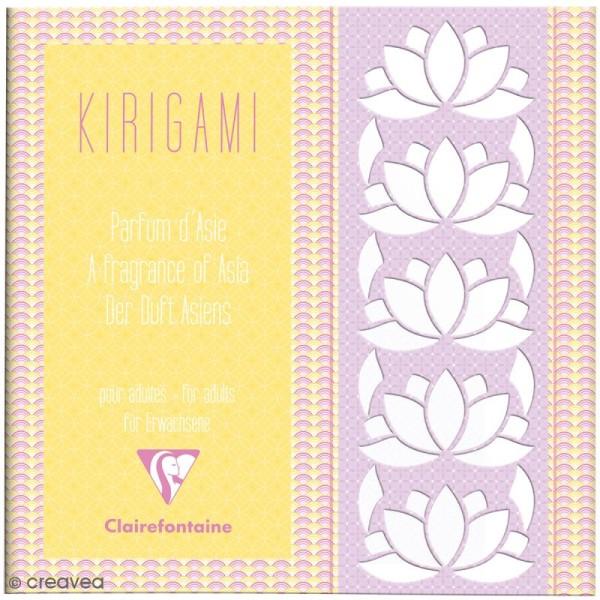 Carnet de motifs Kirigami - Parfum d'Asie - 20 x 20 cm - 52 pages - Photo n°1