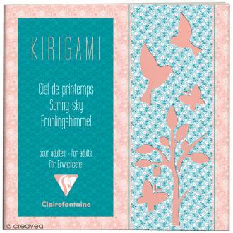 Carnet de motifs Kirigami - Ciel printemps - 20 x 20 cm - 52 pages