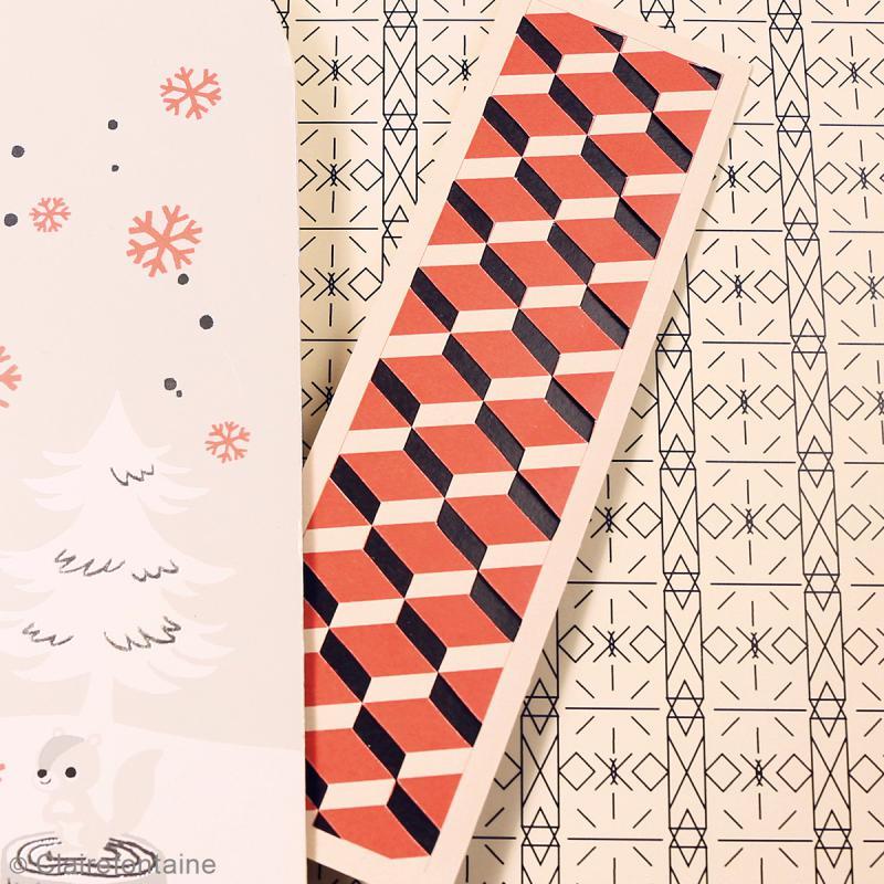 Carnet de motifs Kirigami - Géométrique - 20 x 20 cm - 52 pages - Photo n°3