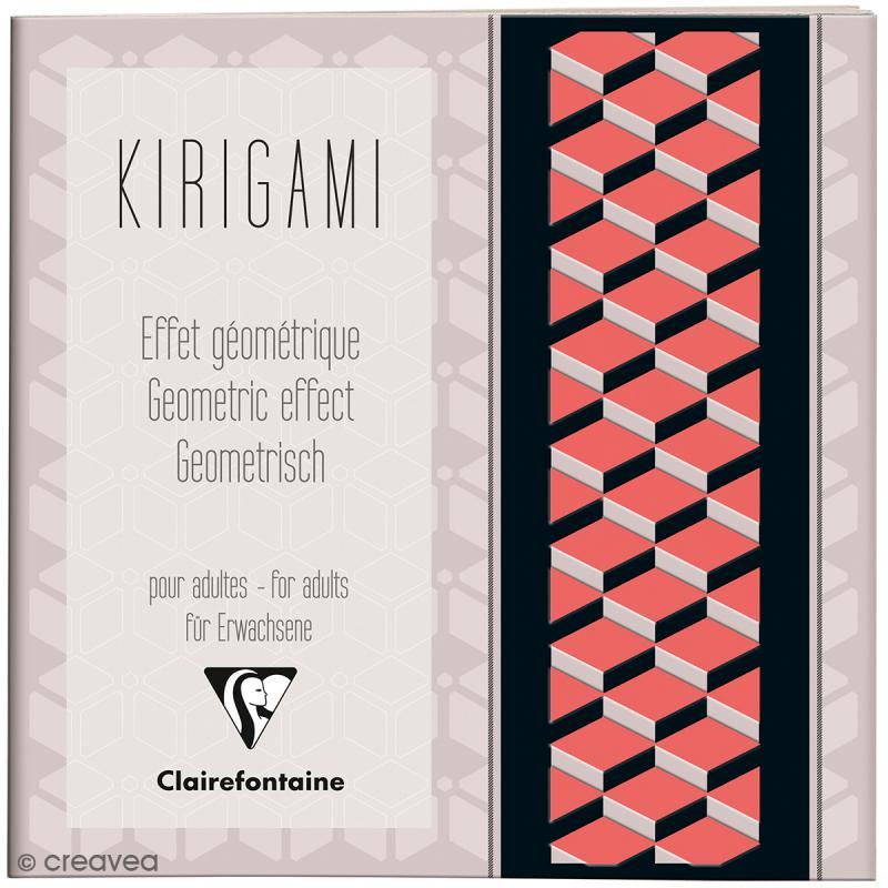 Carnet de motifs Kirigami - Géométrique - 20 x 20 cm - 52 pages - Photo n°1