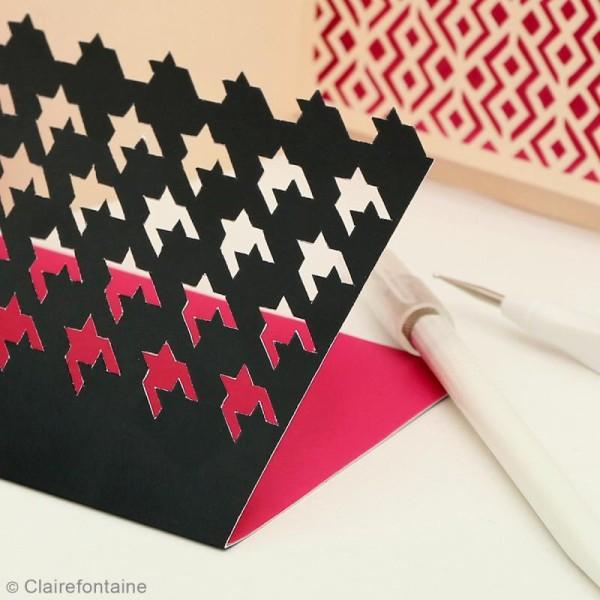 Carnet de motifs Kirigami - Géométrique - 20 x 20 cm - 52 pages - Photo n°5