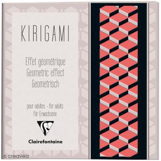 Carnet de motifs Kirigami - Géométrique - 20 x 20 cm - 52 pages