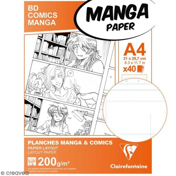 Bloc de papier Manga Paper Planches - Grille divisée A4 - 40 feuilles - Photo n°2