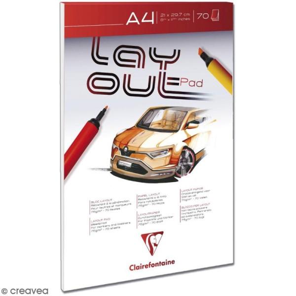 Bloc de papier Layout - A4 - 70 feuilles - Photo n°1