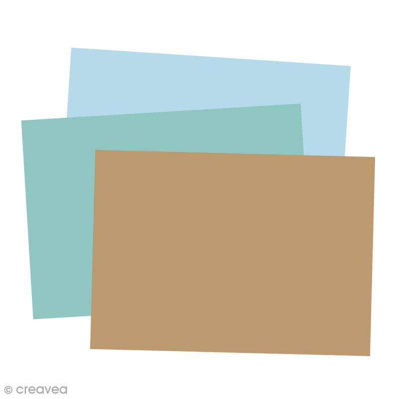 Carte Grain de Pollen - 19 coloris - 105 x 148 mm - 5 pcs - Photo n°1