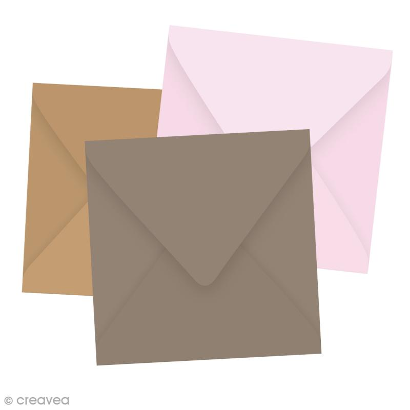 Enveloppe Grain de Pollen - 19 coloris - 140 x 140 mm - 5 pcs - Photo n°1